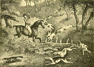 The chase (engraving after Howitt)