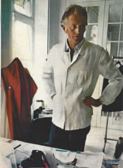 Hubert de Givenchy in his atelier at Avenue George V.tif