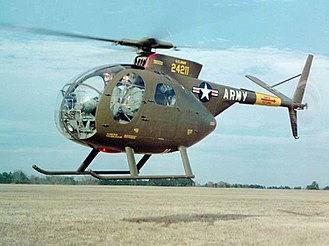 Hughes OH-6 Cayuse - OH-6A Cayuse helicopter on lift off