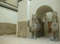 Human-headed Winged Bulls Gate Khorsabad - Louvre 02aa.jpg