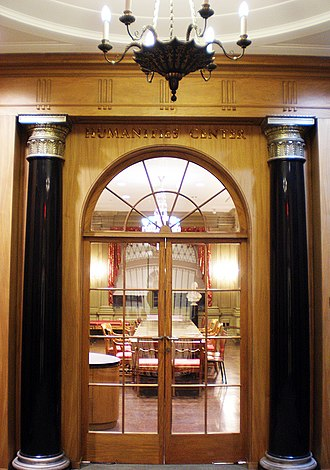 Darlington Collection - The memorial entrance vestibule to the former library space that once housed the Darlington Collection and now serves as the university's Humanities Center