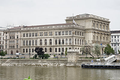 Hungarian Academy of Sciences seat in Budapest, founded in 1825 by Count Istvan Szechenyi Hungarian Academy of Sciences Budapest.jpg