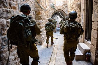 2014 kidnapping and murder of Israeli teenagers - IDF's Nahal Brigade conducting a search in the Hebron area