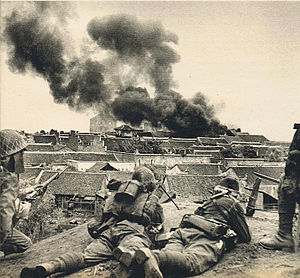 6th Division (Imperial Japanese Army) - IJA 23rd Infantry Regiment 2nd Battalion seizing  Shāshì city, 8 June 1940