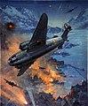 INF3-16 Bombing scene Artist C E Turner 1939-1946.jpg