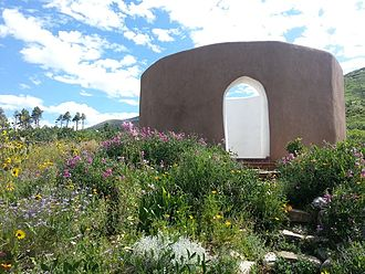 Lama Foundation - The ISC Sky Temple in summer.