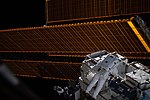 ISS-59 EVA-1 (m) Nick Hague on the external pallet at Port-4 truss.jpg