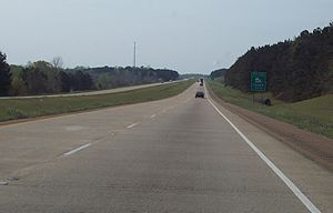 Interstate 49 in Louisiana - Interstate 49 near Chopin