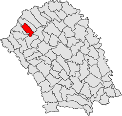 Location of Ibănești, Botoșani