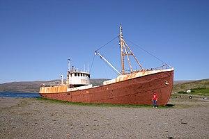 Westfjords - Image: Iceland 2008 West Fjords.old.ship