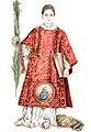 Icona Caesarius Diaconus, San Cesario, o Cesareo, diacono e martire di Terracina, opera di G. Guida.jpg