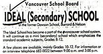 Ideal Mini School - 1974 newspaper ad