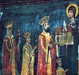 Ieremia Movilă - Ieremia Movilă and his family (depicted at the Suceviţa Monastery)
