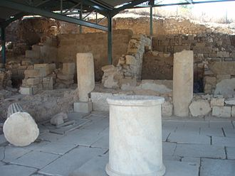 Akanthos (Greece) - Remains of an ancient house excavated in Akanthos