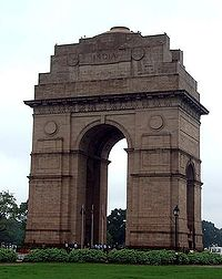 The India Gate commemorates the 90,000 Indian soldiers who died in the Afghan Wars and World War I