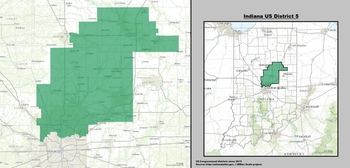 Indiana\'s 5th congressional district - Wikipedia