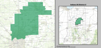 Indiana Us Congressional District 5 Since 2013 Tif