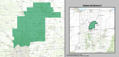Indiana's 5th congressional district - since January 3, 2013.
