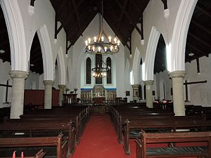 Kasauli - Inner view of Christ Church, Kasauli, Himachal Prades, India