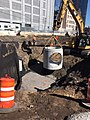 Installation of a detention manhole for future utilities west of Queens Boulevard for the Mid-Day Storage Yard facility. (CQ033, 10-04-2017) (37484818596).jpg