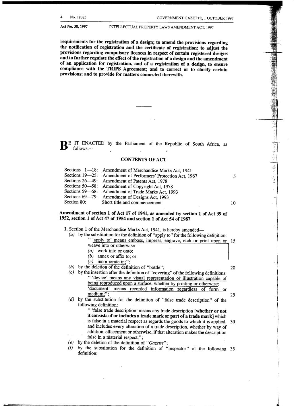 page:intellectual property laws amendment act 1997 from government
