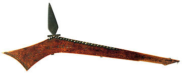 image relating to Printable Gun Stock Templates named Gunstock war club - Wikipedia