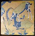 Iran, mattonella con gazzelle, xvi-xvii sec.JPG