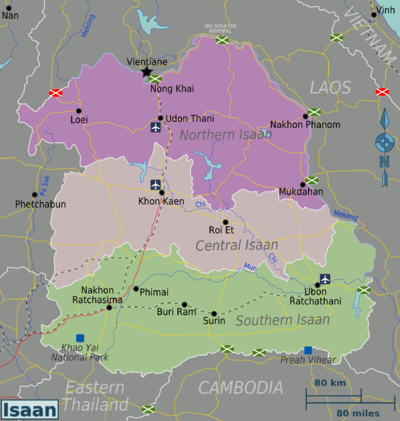 Nong Khai Thailand Map.Isaan Travel Guide At Wikivoyage