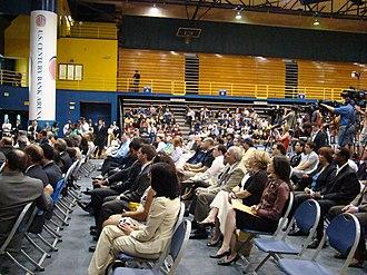 Isiah Thomas - A press conference for Isiah Thomas at the U.S. Century Bank Arena at Florida International University in Miami.