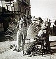 Italian fisherman making a net, Palermo, Sicily, September 1943 (24354467874).jpg
