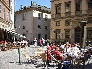 Järntorget (Stockholm) square in Gamla stan, Stockholm, Sweden