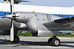 JASDF YS-11P(02-1158) Rolls-Royce Dart turboshaft engine nacelle & left main landing gear left front view at Miho Air Base May 27, 2018 16.jpg