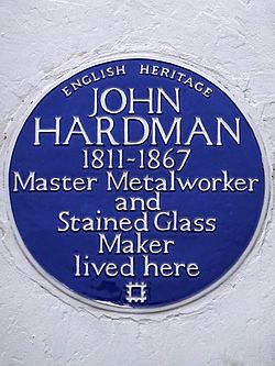 John hardman 1811 1867 master metalworker and stained glass maker lived here