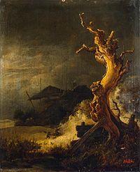 Jacob van Ruisdael - Winter landscape with dead tree.jpg