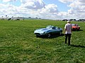 Jaguar 'E' type and MGB GT, Wroughton airfield - geograph.org.uk - 318791.jpg