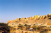 Jaisalmer in Rajasthan is situated in the heart of the Thar Desert. The region is arid and dusty.
