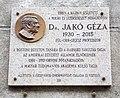 Jakó Géza emléktábla, Horánszky utca, 2018 Józsefváros.jpg