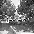 Jamboree 1963 te Marathon Griekenland Franse padvinders in hun kamp, Bestanddeelnr 915-4385.jpg