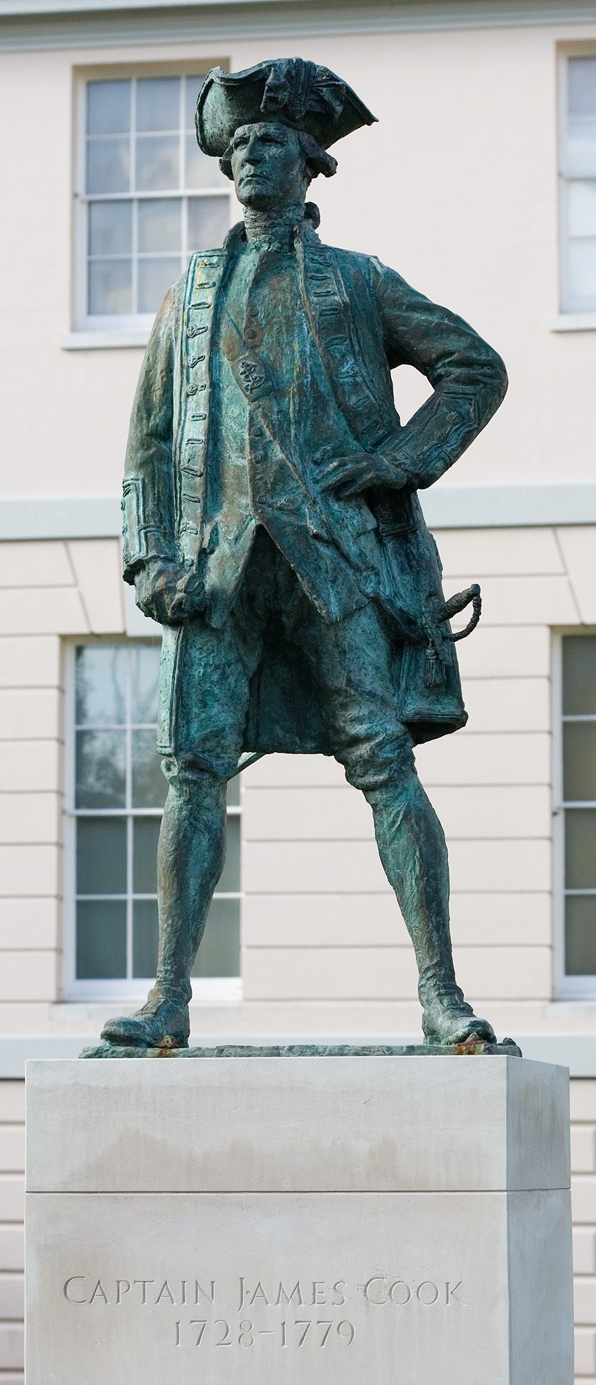 James Cook Statue in Greenwich - Oct 2006