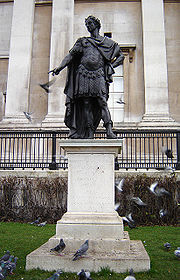 Statue of James II in Trafalgar Square, London