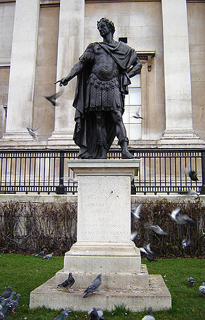 Peter Van Dievoet - Statue of King James II, in Trafalgar Square, London, by Peter Van Dievoet, 1686.