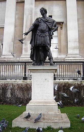 Peter Van Dievoet - Statue of King James II, in Trafalgar Square, London, by Peter Van Dievoet, 1686.