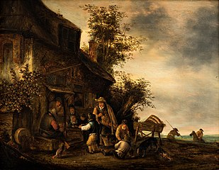 Musicians Outside the Tavern