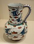 Jar with lateen-sailed boats and islands, Iznik ware, Turkey, Iznik, Ottoman period, last quarter of 16th century, earthenware with underglaze polychrome painting - Cincinnati Art Museum - DSC04094.JPG