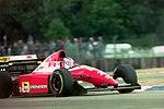 Jean Alesi - Ferrari F93A during practice for the 1993 British Grand Prix (33686714925).jpg