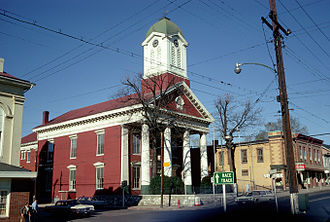 Jefferson County, West Virginia - Image: Jefferson County Courthouse, Charles Town