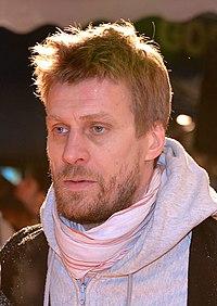 Jens Hultén på filmpremiere i Filmstaden Sergel i Stockholm 2012.
