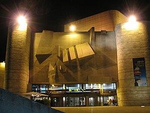 Jerusalem Theatre - Jerusalem Theatre at night.