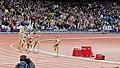 Jessica Ennis on the home straight of the Women's Heptathlon 800 metres (7738551854).jpg