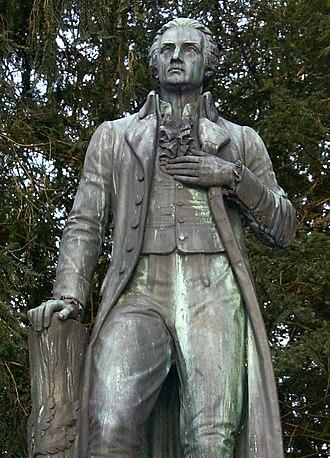 Johann Philipp Palm - Statue by Konrad Knoll, Braunau, 1866
